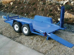 Where to rent DUAL AXLE RAMP EQUIPMENT TRAILER in Campbell CA
