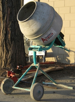 Where to rent 2 1 2  CU FT TRIPOD ELEC CONCRETE MIXER in Campbell CA