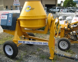 Where to rent 9 CU FT TOWABLE GAS CONCRETE MIXER in Campbell CA