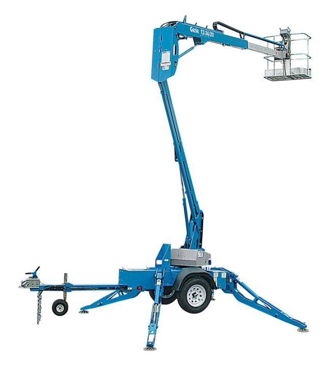 Where to rent 34  TOWABLE PERSONNEL BOOM LIFT in San Jose, Campbell CA, Watsonville, Morgan Hill, Hollister, Santa Clara, Santa Cruz, Northern California