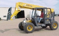 Where to rent 34  HIGH 4X4 TELEHANDLER REACH FORKLIFT in Campbell CA