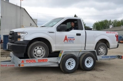 Where to rent DUAL AXLE TILT BED EQUIPMENT TRAILER in Campbell CA