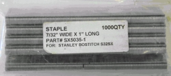 Where to rent BOSTITCH 1  SX5035 STAPLES 1000 per BOX in Campbell CA