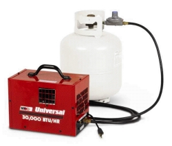 Where to rent 30,000 BTU FORCED AIR PROPANE HEATER in Campbell CA