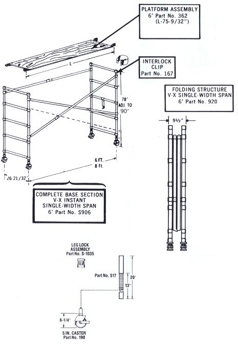 Where to find SCAFFOLD, ALUMINUM INDOOR in Campbell