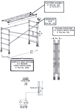 Where to rent 6  ALUMINUM INDOOR SCAFFOLD in Campbell CA