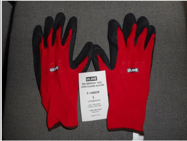 Where to find CLOTH LATEX COATED GLOVES  L in San Jose