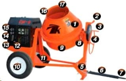Where to rent TK EQUIPMENT 9 CUBIC FT CONCRETE MIXER in Campbell CA