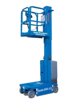 Rental store for 12  ELECTRIC VERTICAL MAST LIFT RUNABOUT in San Jose CA