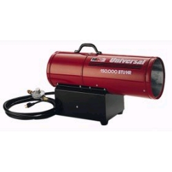 Where to rent 150,000 BTU FORCED AIR PROPANE HEATER in Campbell CA