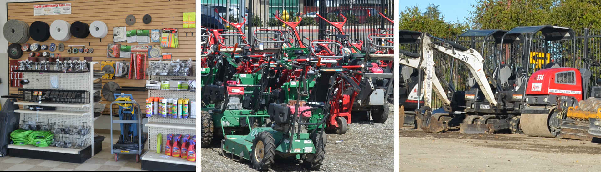 Equipment Rentals in Santa Clara County, Santa Cruz County, Monterey Bay & the Silicon Valley